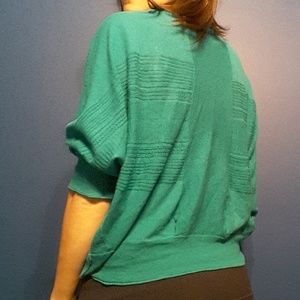 Free People green Dolman sleeve cocoon sweater m/l